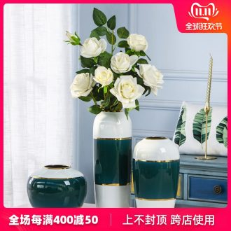 Jingdezhen ceramic European vase furnishing articles dried flower arranging flowers sitting room porch light the key-2 luxury of boreal Europe style table decorations