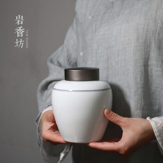 YanXiang fang include simple ceramic alloy cover sealing ceramic tea caddy fixings wake receives POTS