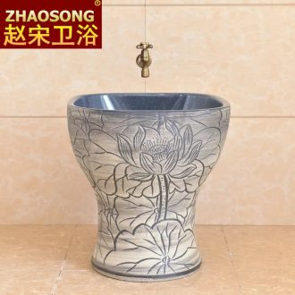 Ceramic art mop wash mop pool basin to the balcony square one - piece mop pool sweep the floor mop pool home