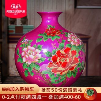 Jingdezhen ceramic vases, purple crystal glaze mei red sitting room porch place rich ancient frame of Chinese style household ornaments