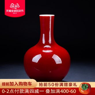 Jingdezhen ceramic antique ji red vases, flower arranging rich ancient frame the sitting room of Chinese style household furnishing articles large tree