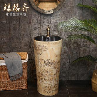 Ceramic basin of restoring ancient ways is one pillar its pillar lavabo lavatory courtyard floor pillar lavabo column basin