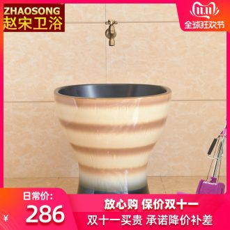 Nordic retro ceramic square basin of mop mop mop pool toilet tank balcony sink outside of the pool