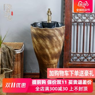 Jingdezhen ceramic stage basin, art basin stage basin to toilet lavabo balcony column basin suit