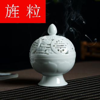 Continuous up with jingdezhen ceramic grain green was manual aromatherapy furnace household indoor air purification tower ta