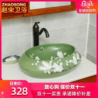Contracted Europe type ceramic stage basin of household toilet lavabo of new Chinese style restoring ancient ways basin is the basin that wash a face to the balcony