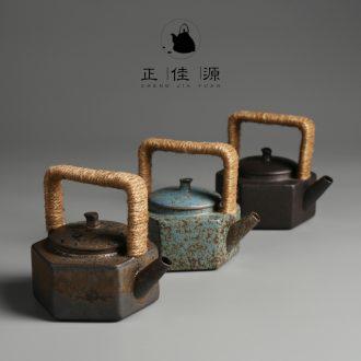 Restoring ancient ways is good source Japanese girder pot of warm the teapot ceramic teapot single pot of coarse pottery kung fu tea set variable teapot