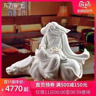 Oriental soil of the masters of dehua white porcelain Su Xianzhong ceramic porcelain carving art/sabingga sukdun dergici jimbi D30-03