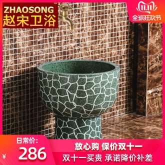 Jingdezhen large round mop pool one mop pool European - style balcony mop pool to wash cloth mop basin is suing the pool