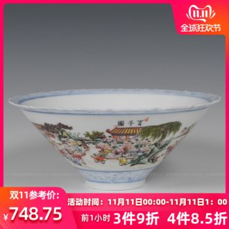 Jingdezhen ceramics hand - made the ancient philosophers figure hat to bowl bowl cups Wang Rongjuan modern fashion household decoration
