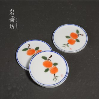 YanXiang fang hand - made persimmon teacup pad ceramic insulation pad tea accessories