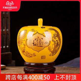 Jingdezhen ceramics lucky Chinese red porcelain vase and furnishing articles sitting room ark, handicraft decorative household items