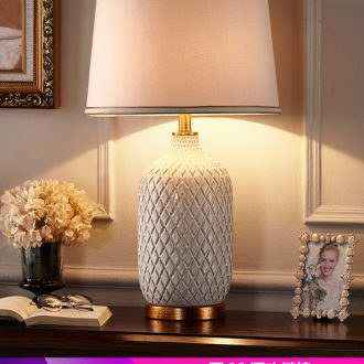 American new Chinese style light the key-2 luxury of I and contracted lamp towns Nordic style ceramic I sitting room adornment of bedroom the head of a bed