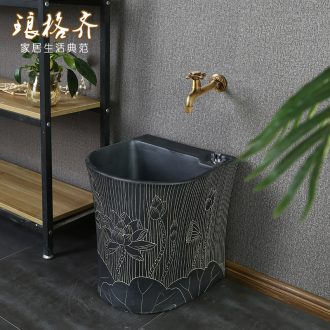 Ceramic mop pool balcony toilet household mop pool small is suing garden art restores ancient ways the mop pool outdoors