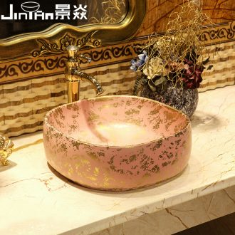 JingYan Venus snow art stage basin European ceramic lavatory household balcony toilet lavabo on stage