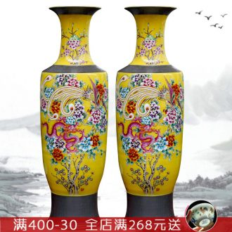 Jingdezhen ceramic home sitting room adornment hand - made in extremely good fortune of large vase study Chinese furnishing articles