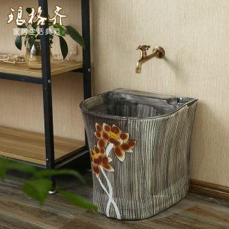 Ceramic basin of wash mop pool household balcony to mop mop pool pool one toilet cistern on the floor