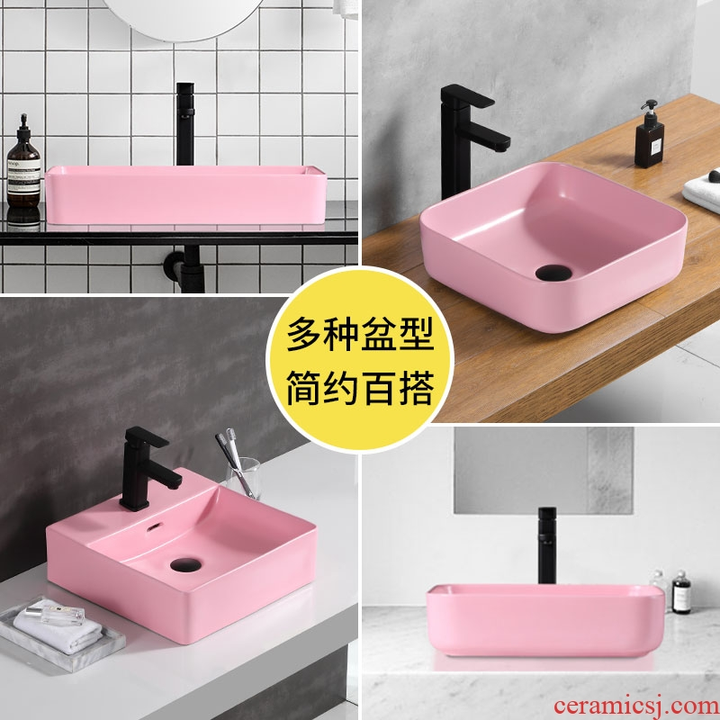 Contracted the stage basin sink single basin ceramic household face small northern wind hands pan toilet