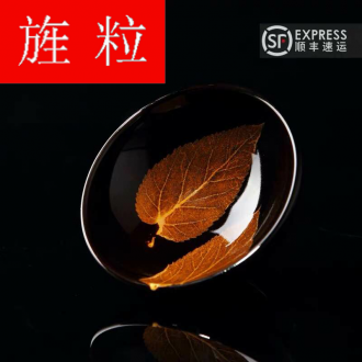 Continuous grain up green was konoha temmoku lamp that jizhou up built light tea tea service master CPU use ceramic cup