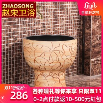 Restoring ancient ways of song dynasty ceramic mop pool toilet mop pool balcony is suing the mop mop basin integrated slot antifreeze