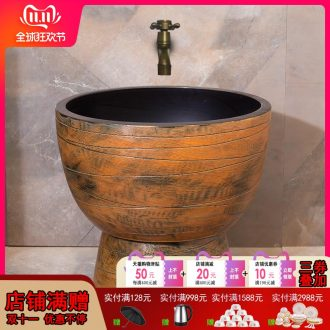 The Mop pool balcony ceramic toilet automatic Mop Mop pool water basin to wash the Mop pool antique art