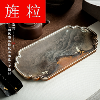 Continuous grain of firewood hand - made pot bearing restoring ancient ways tea tray saucer it ceramic dry mercifully tea sea Chinese kung fu tea set