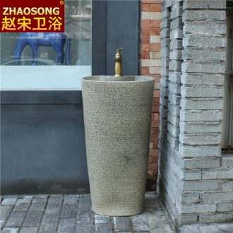 Ceramic floor type restoring ancient ways is a whole sink household balcony column column basin sink basin courtyard toilet