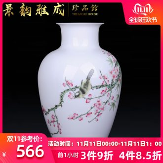 Jingdezhen ceramic hand - made name plum flower decoration vase furnishing articles of Chinese style living room TV cabinet process furnishings porcelain