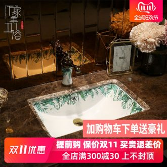 M beautiful square ceramic lavabo undercounter embedded lavatory small size toilet basin basin