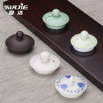 Four - walled yard with ceramic teapot lid cover parts with zero galate a small cap lid violet arenaceous your up celadon double