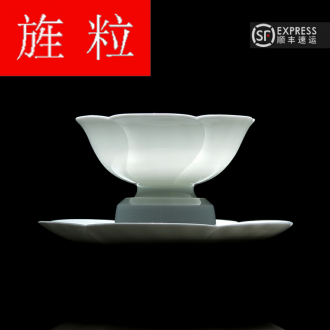 Continuous up with jingdezhen ceramic grain green was them manually kongfu tea cup cup single sketch a cup of the Lord