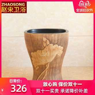 Chinese style restoring ancient ways ceramic household small balcony mop pool small space basin mop mop pool slot is suing 35 cm