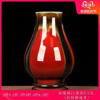 Jingdezhen ceramic antique vase three Yang kaitai flowerpot f tube furnishing articles mesa Chinese style living room decoration