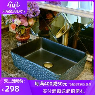 Creative antique black ceramic art toilet basin to restore ancient ways the sink basin rectangular basin stage