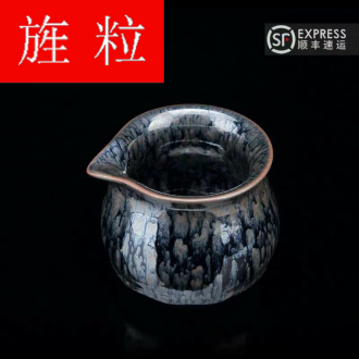 Continuous grain up with jingdezhen ceramic up built green was light fair keller a single large heat - resistant kung fu tea accessories