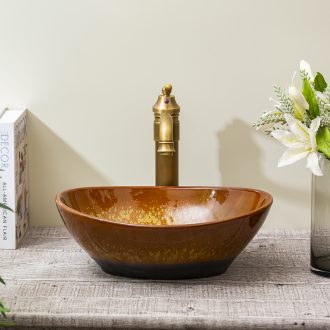 Spring rain wash basin ceramic toilet stage basin art small family lavatory toilet lavabo of jingdezhen