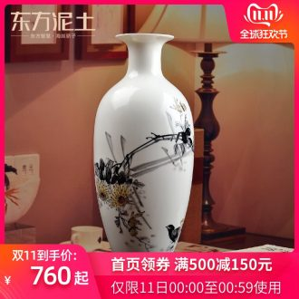 Oriental soil hand - made bottle name plum by ceramic glaze colorful furnishing articles under the sitting room of Chinese style household ornaments