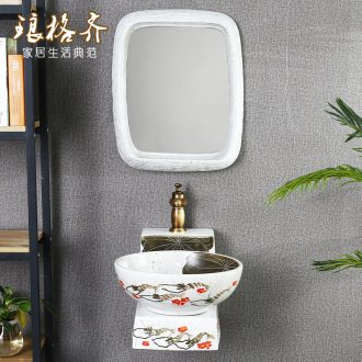Post, neat new Chinese style ceramic hanging lavabo lavatory toilet wash gargle hang a wall lavatory basin