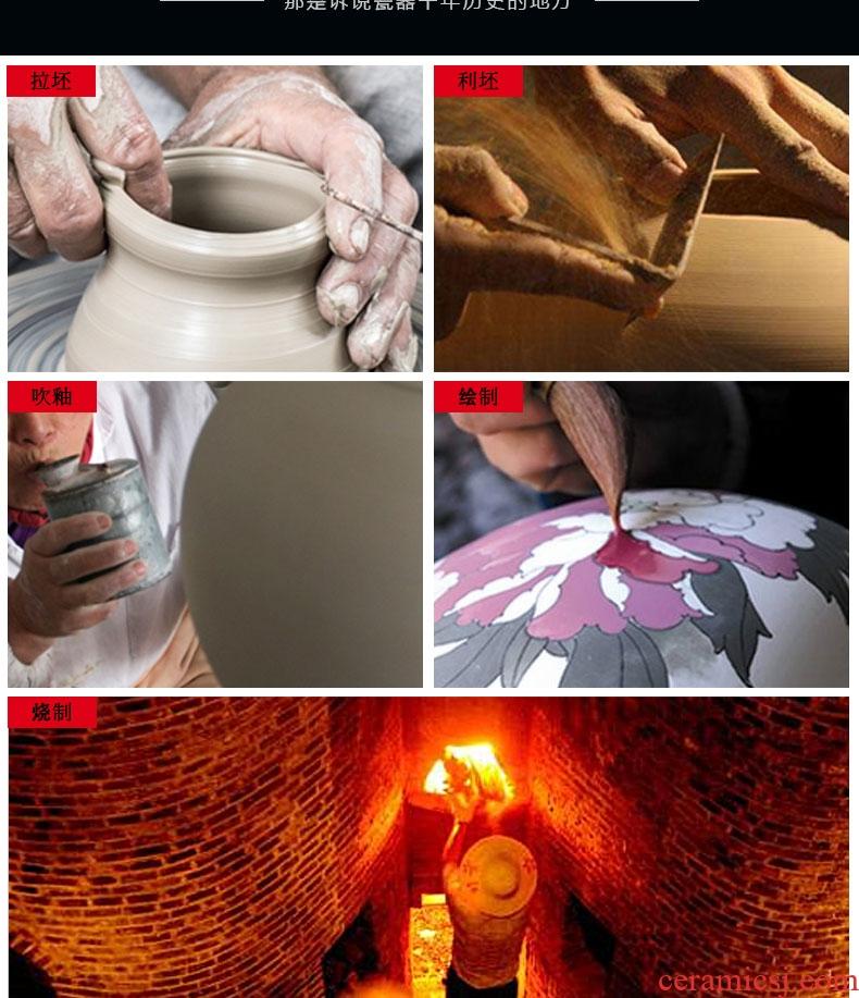 Color glaze jun porcelain of jingdezhen ceramics vase furnishing articles crack glaze flower arranging dried flowers sitting room adornment handicraft