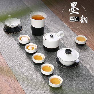 Japanese contracted kung fu tea set ceramic household utensils cup lid bowl of a complete set of jingdezhen tea service