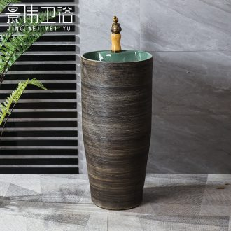 Floor pillar basin ceramic one pillar type restoring ancient ways is suing patio vertical lavatory basin of wash one household