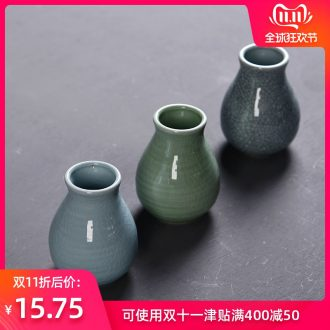 Hong bo acura elder brother up with celadon furnishing articles contracted sitting room floret hydroponic flower vases, pottery and porcelain home decoration