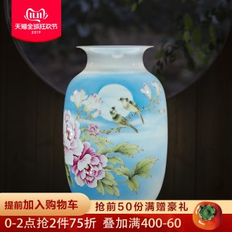 The Master of jingdezhen ceramics hand - made flower vase knife clay sitting room place, the study of Chinese style household ornaments