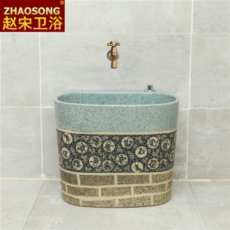 Large ceramic mop pool restoring ancient ways of archaize balcony table control mop mop pool tank reservoir antifreeze is suing