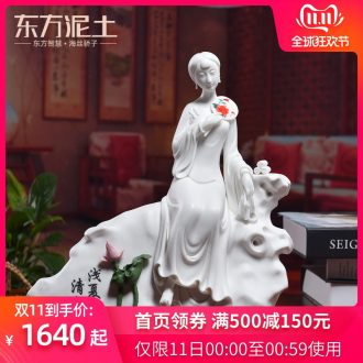 Oriental Chinese style classical soil ceramic beauty place Chinese wind home sitting room adornment/shallow, Alan