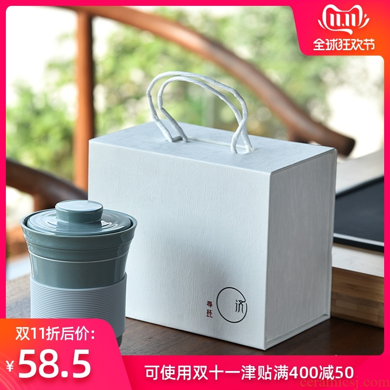 Hong bo the best ideas with cover filtration separation glass ceramic tea lovers make tea cup master cup single CPU suits for