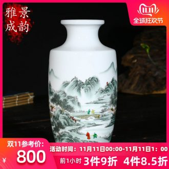 Jingdezhen ceramics hand - made Chinese vase household adornment art crafts home sitting room adornment