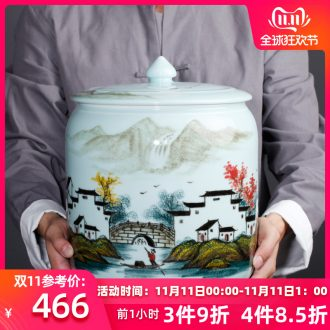 Jingdezhen ceramic new Chinese hand - made village family vase TV ark place porcelain home decoration