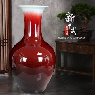 Landing a large vase of jingdezhen ceramics jun porcelain glaze cracks sitting room place flower arranging red decorative arts and crafts