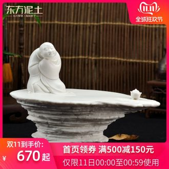 The east mud dehua ceramic designer after 80 Zheng Qinghai art collection furnishing articles/asked D44-18